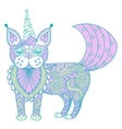 zentangle magic color cat unicorn black vector image