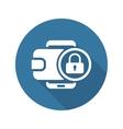 Flat Digital Wallet Secure Transaction concept vector image