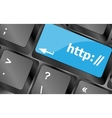Http button on keyboard key - business concept vector image