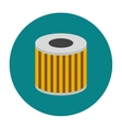 Car oil filter icon flat vector image