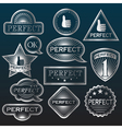 Silver Labels Perfect vector image