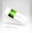 green stripe banner vector image