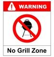 No bbq allowed - ban sign warning banner vector image