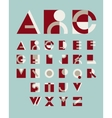 original geometric alphabet vector image