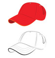 red baseball cap vector image