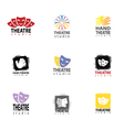 Set Of Theatre Studio Logo vector image