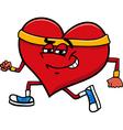 Sporty heart cartoon character vector image