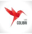 Triangle polygonal red colibri vector image
