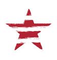 American flag star element symbol vector image