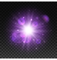 Light shining in space with lens flare effect vector image