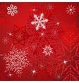 White Snowflakes On A Red Background vector image vector image