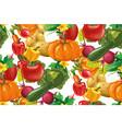 vegetables seamless pattern vegetables vector image