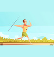 javelin thrower outdoor composition vector image
