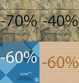 40 60 icon Set of percent discount on abstract vector image