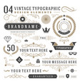 Retro vintage typographic design elements vector image