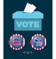 American Presidential Election Elephant versus vector image