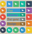 Paper airplane icon sign Set of twenty colored vector image