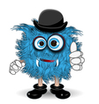 Blue Monster in the Hat vector image