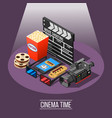 cinema time background concept vector image