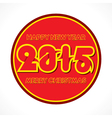 colorful new year 2015 greeting round design vector image