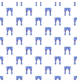 Curtains pattern cartoon style vector image