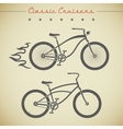 Custom bicycle vector image