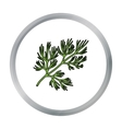Dill icon in cartoon style isolated on white vector image