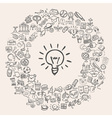 doodle education icons vector image