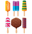 popsicles vector image