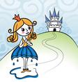 Rainkids - princess vector image