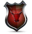 Shield with the Head of a Bull vector image vector image