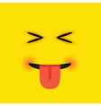eyes closed tongue out square emoji vector image