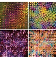 Set of four abstract geometric background vector image vector image