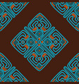 ethnic seamless pattern background in brown and vector image