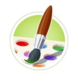 Brush and set of paint vector image vector image