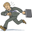 businessman running vector image