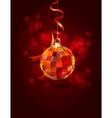 hanging mirror ball vector image