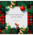 Merry Christmas background with fir twigs vector image vector image