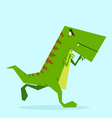 green dino in action 07 vector image vector image