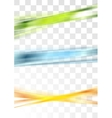 Colorful abstract stripes design vector image
