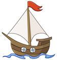 sailboat cartoon vector image vector image