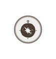 compass icon sticker adventure symbol and patch vector image