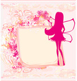 floral background with a beautiful fairy vector image