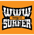 WWW internet surfer typography graphics vector image