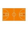 Basketball field icon flat style vector image