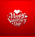 Happy Valentine day message banner design vector image vector image