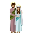 picture of sacred family standing vector image