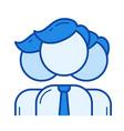 human resources line icon vector image