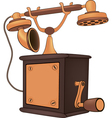 Old phone Cartoon vector image vector image