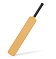 cricket bat 04 vector image vector image